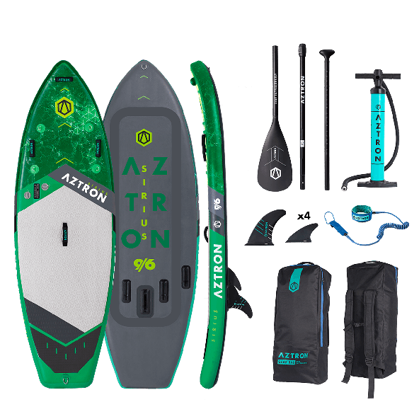 Aztron Sirius 9'6x36x6 Surf/Wave Double Chamber SUP AIR Pakke inkl Paddle & Leash