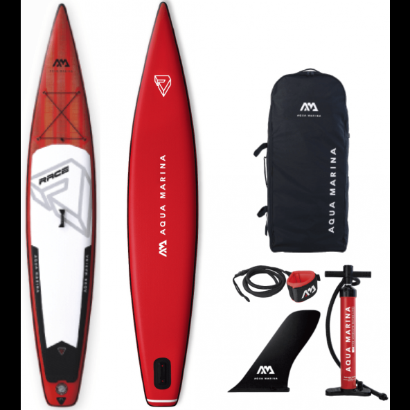 Aqua Marina Oppustelig Race 2019 14'0x27x6 SUP AIR Pakke inkl Leash