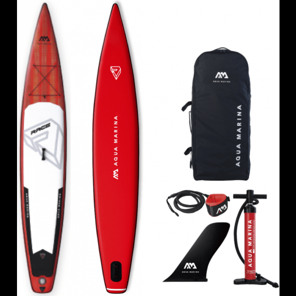 Aqua Marina Oppustelig Race 2019 12'6x26x6 SUP AIR Pakke inkl Leash