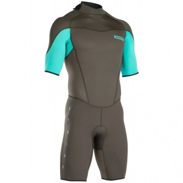 ION - MENS - STRIKE ELEMENT SHORTY SS 2/2 BZ DL Flatlock Summer Shortie Neopren Våddragt Olive/Teal