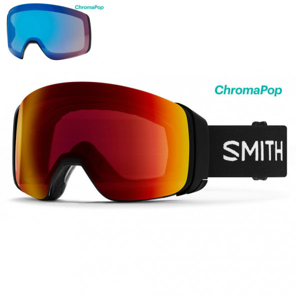 Smith 4D MAG Goggles Sort - Inkl Ekstra Linse