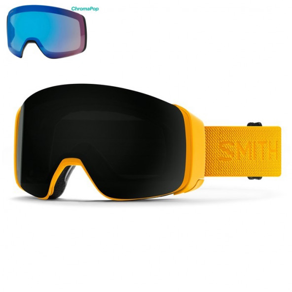Smith 4D MAG Goggles Gul - Inkl Ekstra Linse